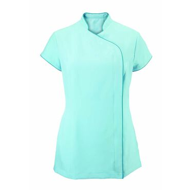 Alexandra Women's Easycare Wrap Zip Beauty Tunic - Teal/Peacock