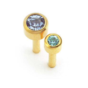 Caflon March Birthstone Ear Piercing Studs 12 pair pack