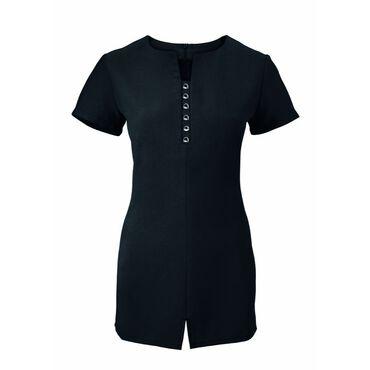 Alexandra Women's Notch Neck Tunic - Black
