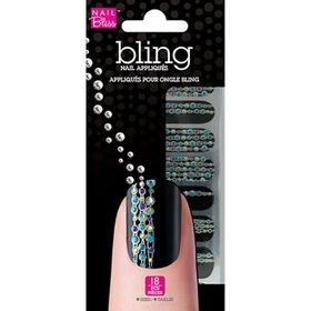 Bling Nail Appliques Disco Daze Pack of 18
