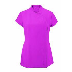Alexandra Women's Easycare Wrap Zip Beauty Tunic - Hot Pink