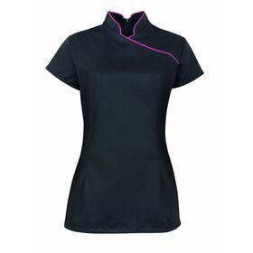 Alexandra Women's Piped Beauty Tunic - Black/Pink