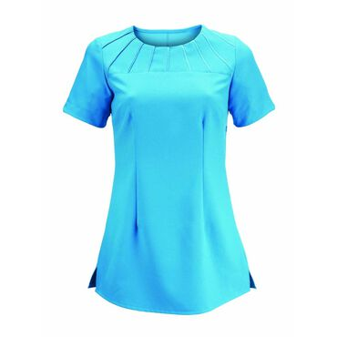 Alexandra Women's Satin Trim Tunic - Peacock