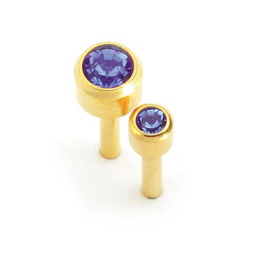 Caflon September Birthstone Ear Piercing Studs 12 pair pack
