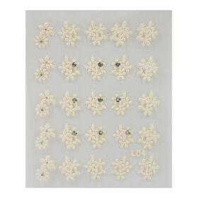Nina Ultra Pro Nail Stickers - White Cluster Petals