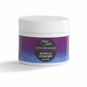 Star Nails Performance Acrylic Powder White 40g