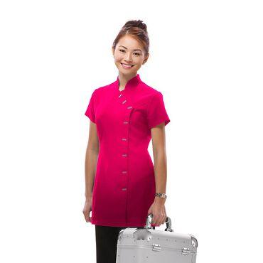 Salon Services Women's Asymmetrical Tunic Pink