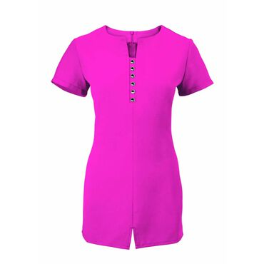Alexandra Women's Notch Neck Tunic - Hot Pink