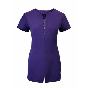 Alexandra Women's Notch Neck Tunic - Amethyst