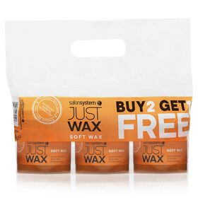 Just Wax Soft Wax Three Pots of 450g