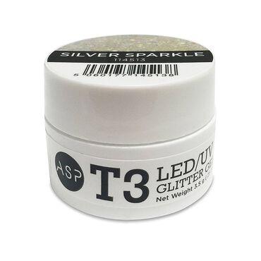 ASP T3 LED UV Glitter Gel - Silver 3.5g