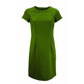 Alexandra Women's Satin Trim Dress - Olive