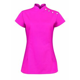 Alexandra Women's Stand Collar Beauty Tunic - Pink