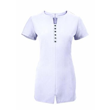 Alexandra Women's Notch Neck Tunic - White