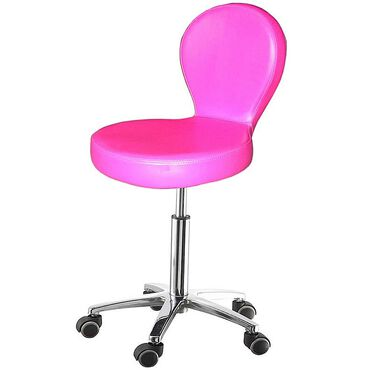 Salon Services Sicily Stool - Pink