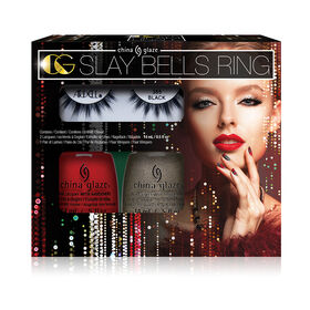 China Glaze Nail Lacquer The Glam Finale Collection Slay Bells Ring Kit
