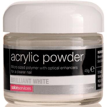 Salon Services Acrylic Powder Brilliant White 45g