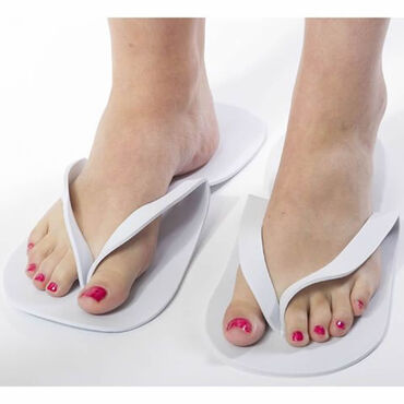 Beauty Express Disposable Flip Flops White