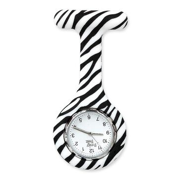 Funky Fobz Analogue Silicone Fob Watch Zebra