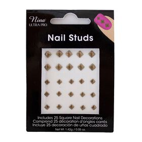 Nina Ultra Pro Square Studs Assorted Dark Gold