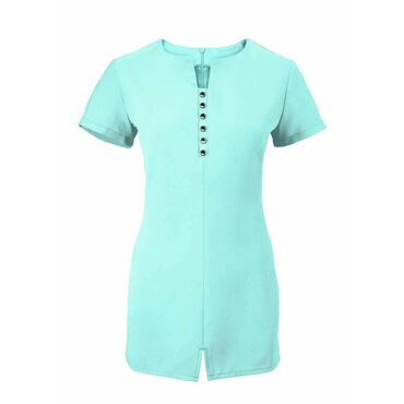Alexandra Women's Notch Neck Tunic - Teal