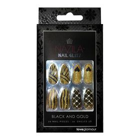 Nazila Love Glamour Nail Glitz Black and Gold