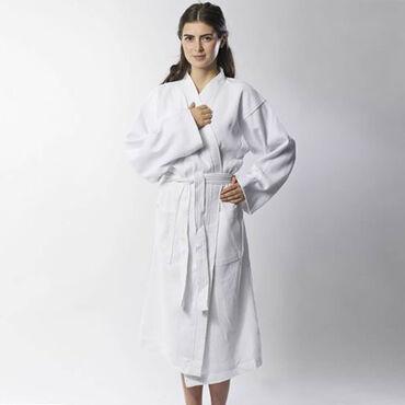 Beauty Express Waffle Robe White Large