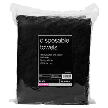 Salon Services Disposable Towels 30 Pack, Black