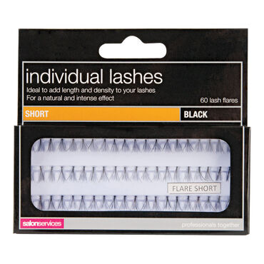 Salon Services Individual Lashes Black Short