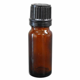 Beauty Express Empty Aromatherapy Bottle with Dropper Top Amber 15ml