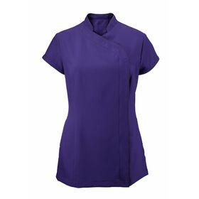 Alexandra Women's Easycare Wrap Zip Beauty Tunic - Amethyst