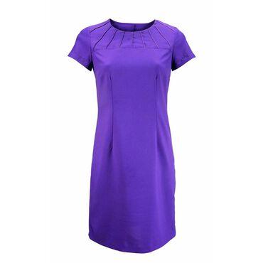 Alexandra Women's Satin Trim Dress - Amethyst
