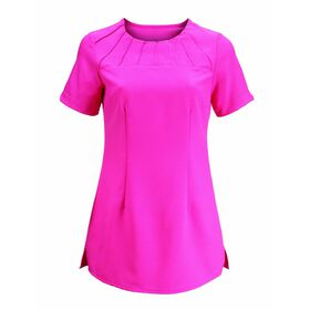 Alexandra Women's Satin Trim Tunic - Hot Pink