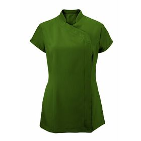 Alexandra Women's Easycare Wrap Zip Beauty Tunic - Olive