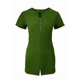 Alexandra Women's Notch Neck Tunic - Olive