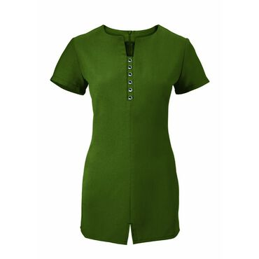 Alexandra Women's Notch Neck Tunic - Olive