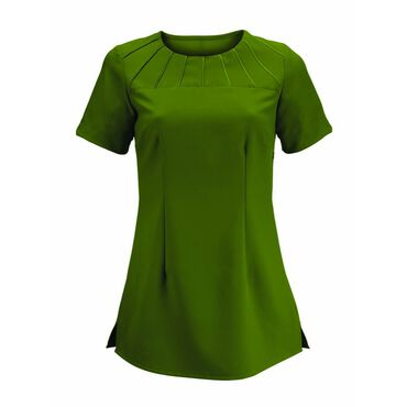 Alexandra Women's Satin Trim Tunic - Olive