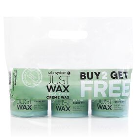 Just Wax Tea Tree Crème Wax Three Pots of 450g