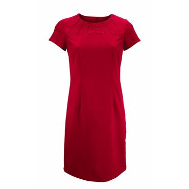 Alexandra Women's Satin Trim Dress - Red