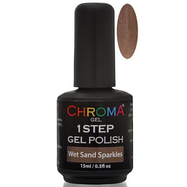 Chroma Gel One Step Gel Polish - Wet Sand Sparkles 15ml