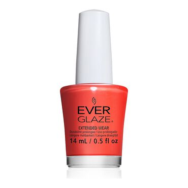 China Glaze EverGlaze Extended Wear Nail Polish - Pretty Poppy 14ml