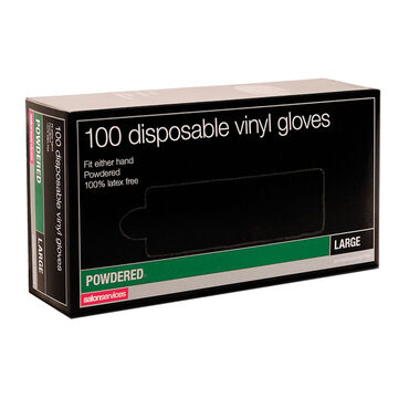 Salon Services Disposable Vinyl Gloves Pack of 100 - Small