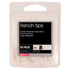 Salon Services French Tips Size 8 Pack of 50