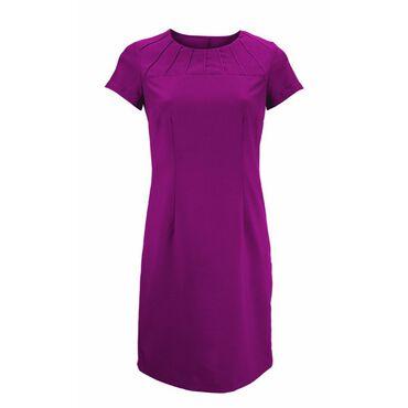 Alexandra Women's Satin Trim Dress - Raspberry
