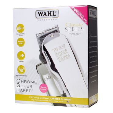 WAHL Chrome Super Taper Combo Pack