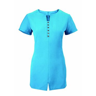 Alexandra Women's Notch Neck Tunic - Peacock