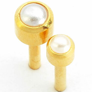 Caflon Regular Studs Pearl Bezel Pack of 12