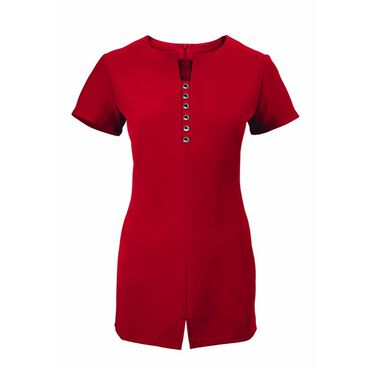 Alexandra Women's Notch Neck Tunic - Red