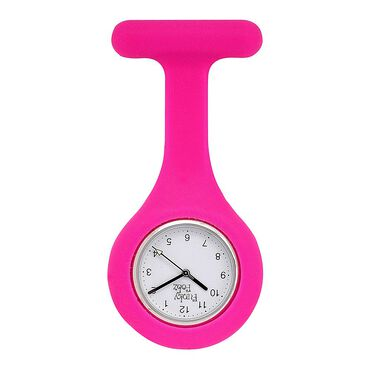 Funky Fobz Analogue Silicone Fob Watch Hot Pink
