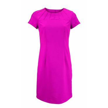 Alexandra Women's Satin Trim Dress - Hot Pink